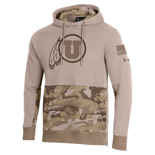 Image For Utah Utes Under Armour Military Appreciation Hoodie