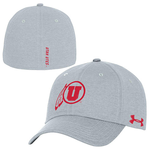 Image For Utah Utes Athletic Logo Under Armour Fitted Hat 0251fcb370ad