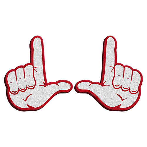 Cover Image For Utah Utes Foam Block U Hands 2-Pack