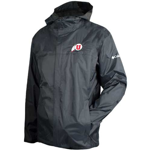 Image For Utah Utes Athletic Logo Full-Zip Rain Jacket