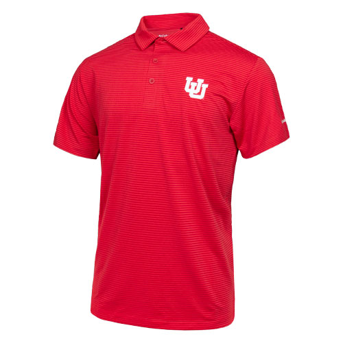 Image For Utah Utes Interlocking U Striped Polo