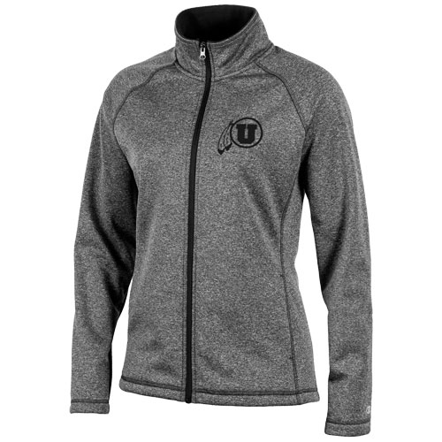 Image For Utah Utes Champion Womens Full Zip Athletic Logo Jacket