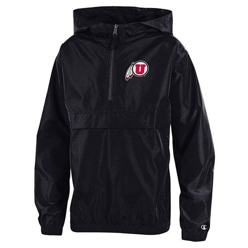 Cover Image For Champion Utah Utes Athletic Logo Youth Rain Jacket