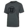 Image for Utah Utes Blackout Athletic Logo Ringer Tee