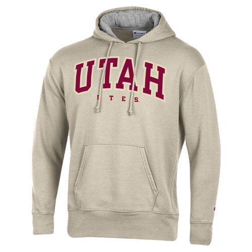 Cover Image For Utah Utes Chenille Patch Champion Pullover Hoodie