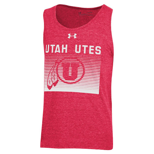 Cover Image For Utah Utes Under Armour Triblend Tank Top