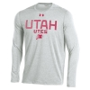 Image for Under Armour Utah Utes Athletic Logo Long Sleeve Tee