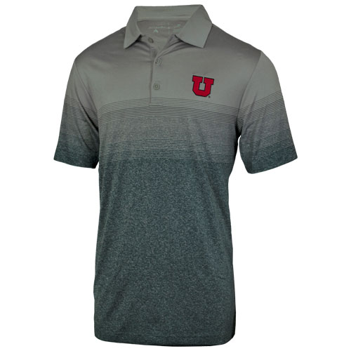 Image For Utah Utes Block U Tonal Stripes Polo