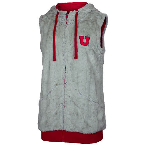 Image For Utah Utes Block U Faux Fur Vest