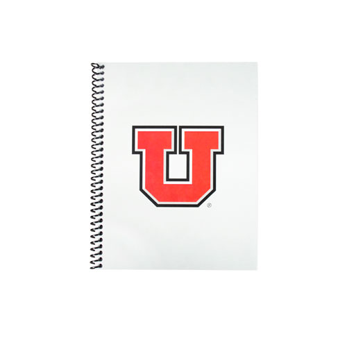 Image For Utah Utes Block U Spiral Bound Notebook