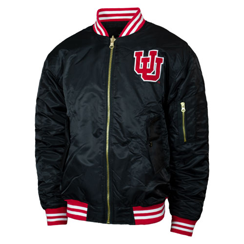 Image For Utah Utes Interlocking U Varsity Bomber Jacket