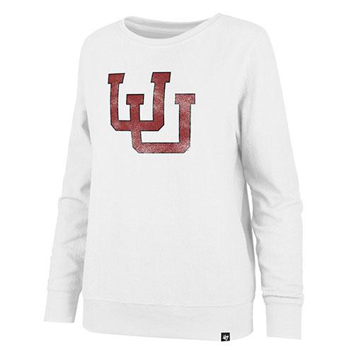 309ecc7f Image For Utah Utes Distressed Interlocking U Women's Sweatshirt