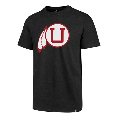 Image For Utah Utes Throwback Athletic Logo Tee
