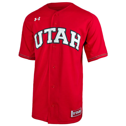 Image For Utah Utes Under Armour Red Baseball Jersey