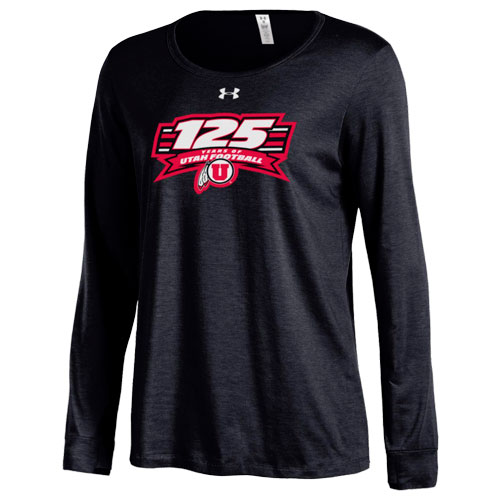 Cover Image For Under Armour 125 Years of Utah Football Womens Long Sleeve