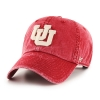 Image for Utah Utes Interlocking U Washed Out Red Adjustable Hat