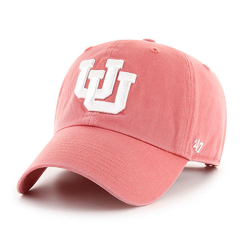 Cover Image For Utah Utes Interlocking U Faded Red Women's Adjustable Hat