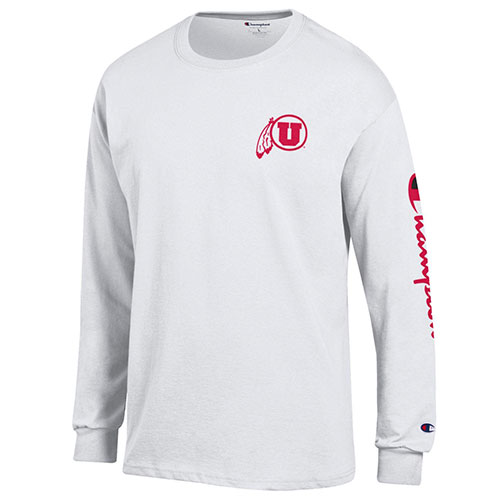 af1bb507 Image For Utah Utes Champion Co-Brand Long Sleeve Tee