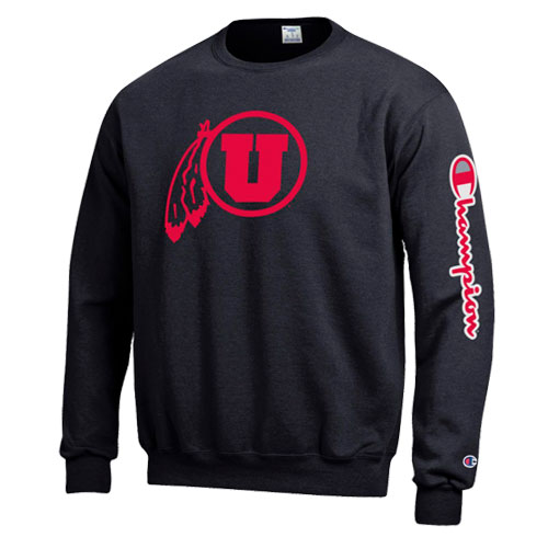 Image For Utah Utes Champion Crew Neck Sweatshirt