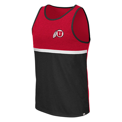 Cover Image For Utah Utes Distressed Athletic Logo Colosseum Tank Top