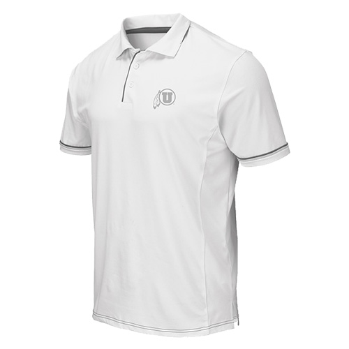 Image For Utah Utes Athletic Logo White Colosseum Polo