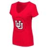 Image for Interlocking U Utah Utes Circle Womens V Neck Tee