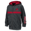 Image for Utah Utes Distressed Athletic Logo Youth Full-Zip Hoodie