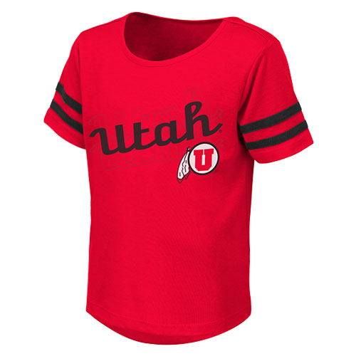 Image For Utah Utes Cursive Athletic Logo Toddler Tee