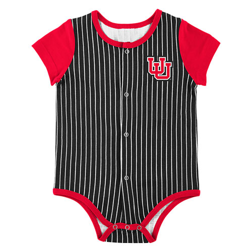 Image For Utah Utes Interlocking U Pinstripe Infant Onesie
