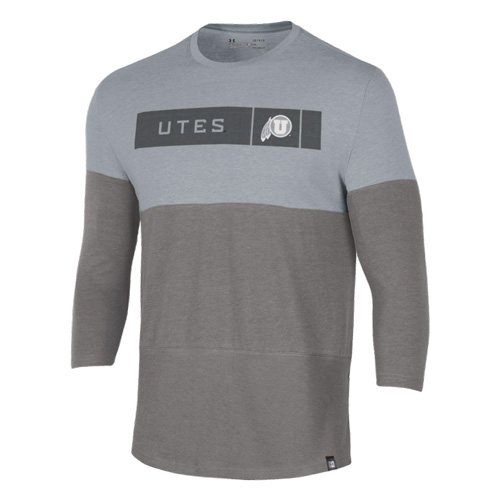 Image For Utah Utes Athletic Logo 3/4 Sleeve Under Armour Tee
