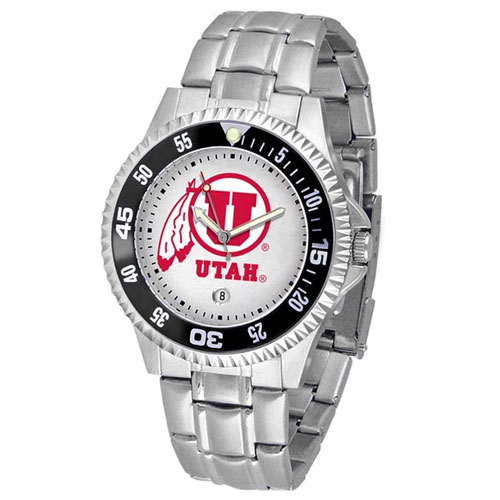 Image For Utah Utes Athletic Logo Competitor Steel Watch