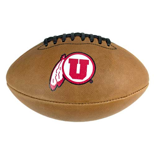 Image For Utah Utes Athletic Logo Light Brown Football