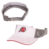 Image for Utah Utes White Front Athletic Logo Visor