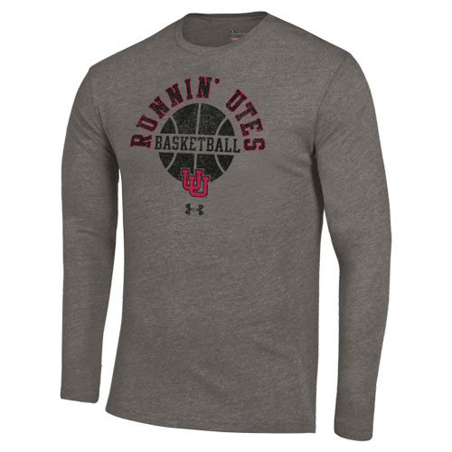 Cover Image For Under Armour Runnin' Utes Basketball Long Sleeve T-Shirt