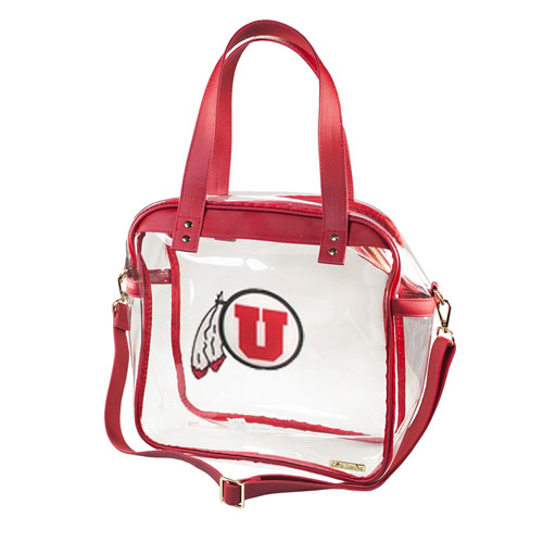 Image For Utah Utes Athletic Logo Clear Tote Bag