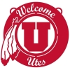 Image for Utah Utes Athletic Logo Hangable Welcome Sign