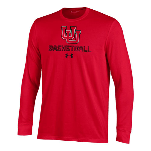 Image For Utah Utes Under Armour Youth Basketball Longsleeve