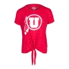 Image for Utah Utes Athletic Logo Knotted T-Shirt