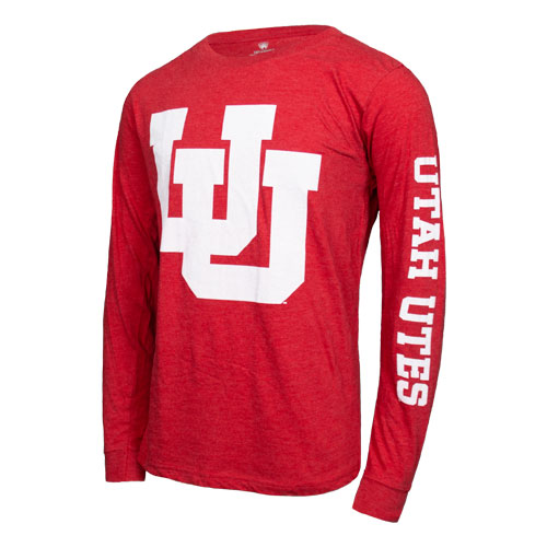 Image For Utah Utes Interlocking U Long Sleeve T-Shirt