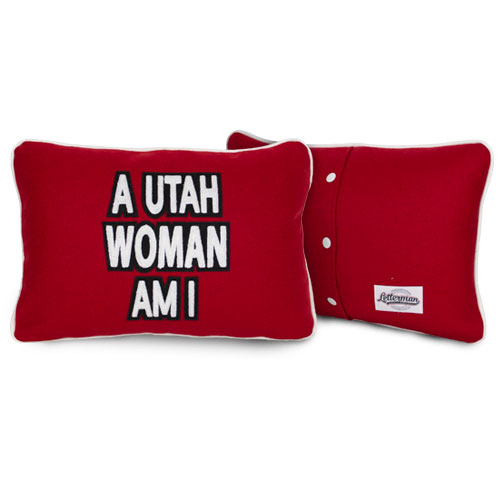 Image For A Utah Woman Am I Letterman Pillow