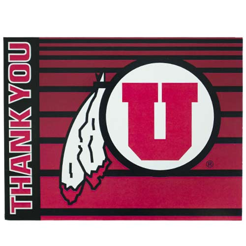 Image For Utah Utes Thank You Greeting Card