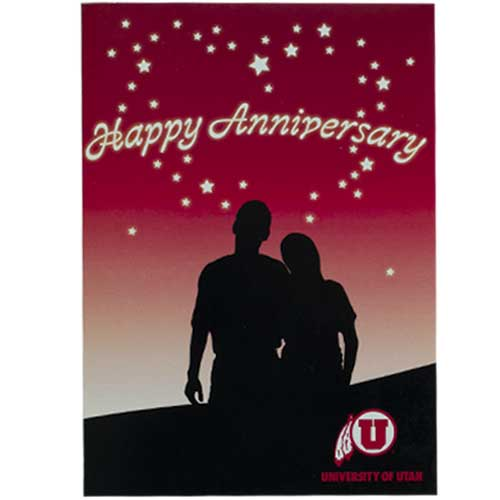 Cover Image For U of U Stars Happy Anniversary Card