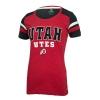 Image for Utah Utes Athletic Logo Women's Striped Sleeve Tee