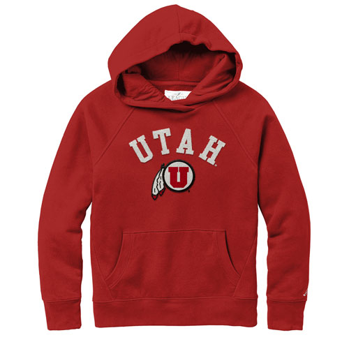 Image For Utah Utes Athletic Logo Women's Pullover Hoodie