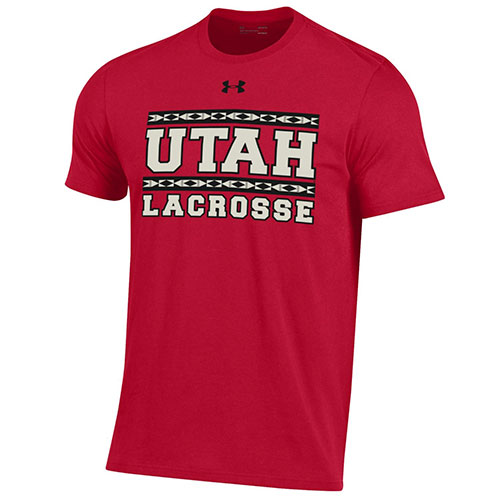 Image For Utah Utes Tribal Lacrosse T-Shirt