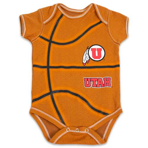 Image For Utah Utes Athletic Logo Basketball Onsie