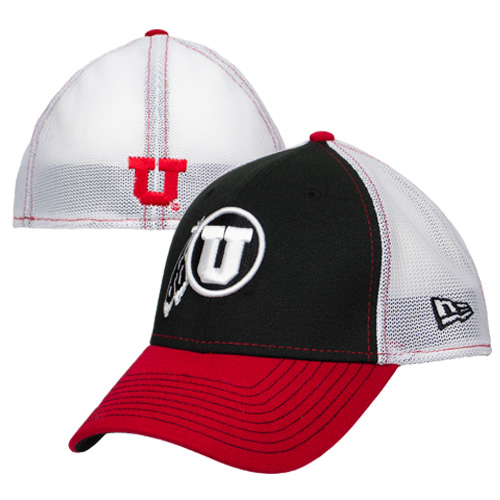Cover Image For Utah Utes Athletic Logo Tricolored Stretch Fit Hat