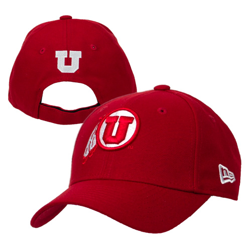 Image For Utah Utes Athletic Logo Velcro Adjustable Hat