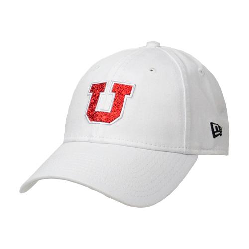 86f536c26ed Image For Utah Utes Glitter Block U Women s Adjustable Hat