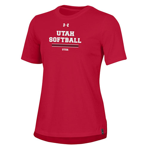 Image For Utah Utes Softball Womens Under Armour Tee